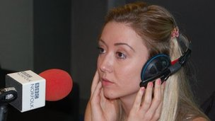 Emma Way giving Radio Norfolk interview