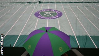 Rain at Wimbledon