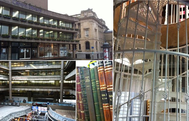 Images inside and out of the Central Library