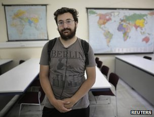 Unemployed Greek geography student George Boukouvalas, 23, in Athens, 17 June