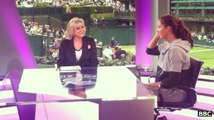 Sue Barker and Laura Robson