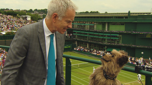 John McEnroe (left) & Hacker the Dog