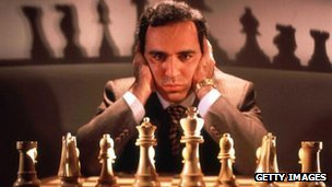 Kasparov trains for his 1997 Deep Blue match