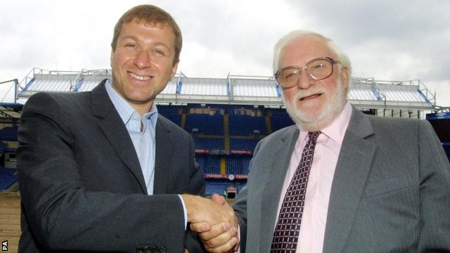 Roman Abramovich and Ken Bates