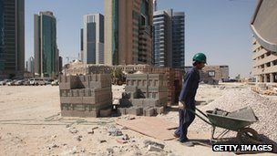 Construction worker in Qatar