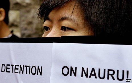 Demonstration against detention on Nauru