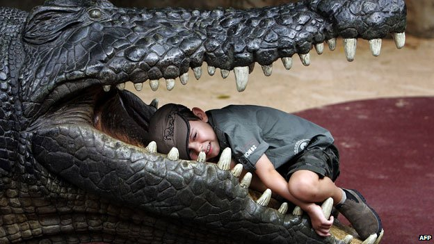 Child in crocodile