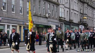 Veterans parade in Aberdeen