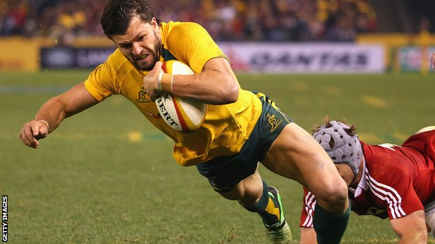 Adam Ashley-Cooper scores the decisive try in Melbourne