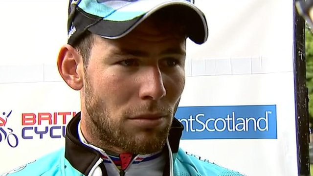 National Road Race champion Mark Cavendish