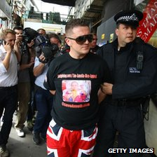 Tommy Robinson arrested in east London
