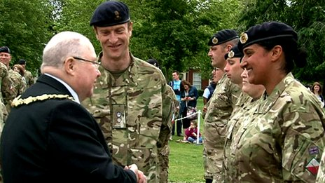 75 Engineer Regiment honoured in Warrington