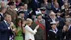 Members of the Armed Forces were applauded at the Wimbledon tennis championship