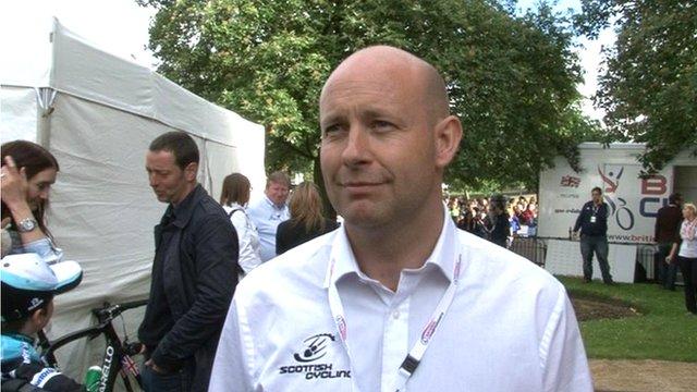 Scottish Cycling chief executive Craig Burn