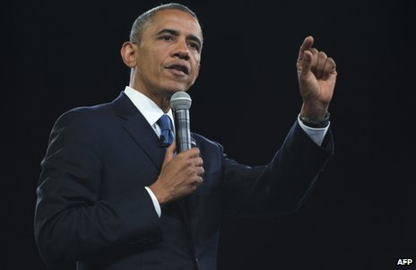 US President Barack Obama speaks at the University of Johannesburg, 29 June