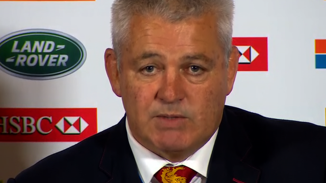 British and Irish Lions coach Warren Gatland