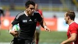 New Zealand's Bryce Heem takes on Wales captain Lee Williams