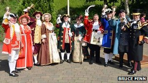 Town criers in Nailsworth