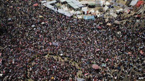 Crowds in Tahrir Square, Cairo, 30 June