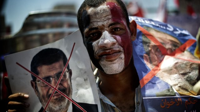 Protester in Tahrir Square