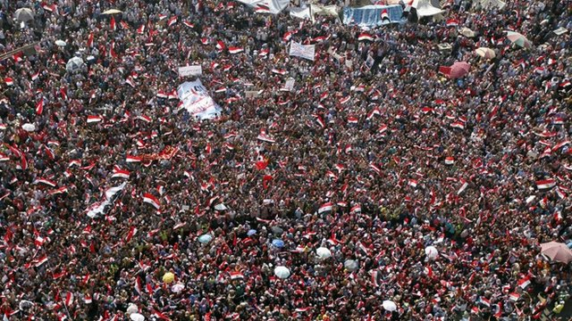 Tahrir Square filled with demonstrators on 30 June 2013