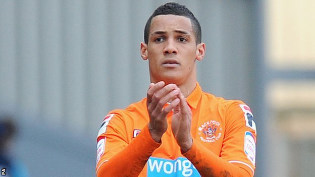 Blackpool midfielder Thomas Ince