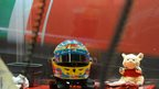 British Grand Prix Fernando Alonso helmet
