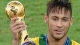 Neymar with trophy
