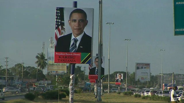 Poster of President Obama in Tanzania