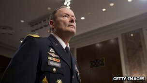 General Keith Alexander, director of the National Security Agency