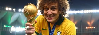 David Luiz lifts trophy