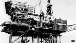 The Piper Alpha rig prior to the disaster
