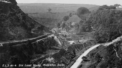 Old lead works, Middleton Dale. Image from http://www.bbc.co.uk/news/uk-england-derbyshire-23126072#