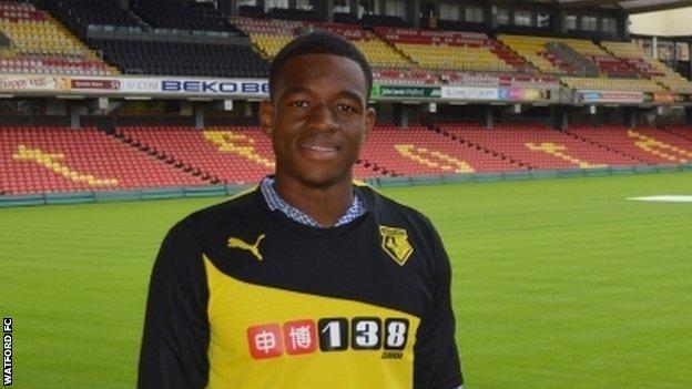 Uche Ikpeazu BBC Sport Uche Ikpeazu Watford sign prolific teenager