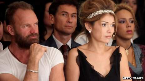 Sting and Gulnara Karimova (right)