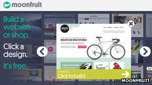 Moonfruit homepage