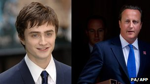 Daniel Radcliffe and David Cameron