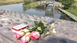 Flowers at the scene of the teenager's death