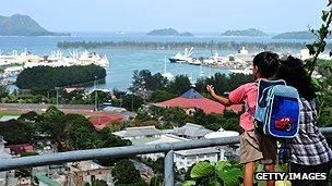 Victoria harbour, Seychelles