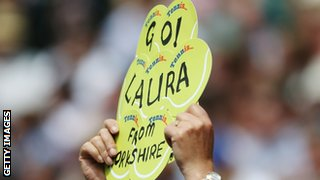 Support for Laura Robson