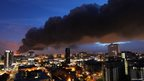 Smoke seen from Birmingham City Centre by Masoud Zakeri
