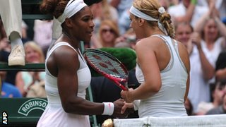 Serena Williams and Sabine Lisicki