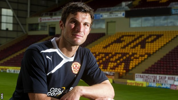 Motherwell striker John Sutton