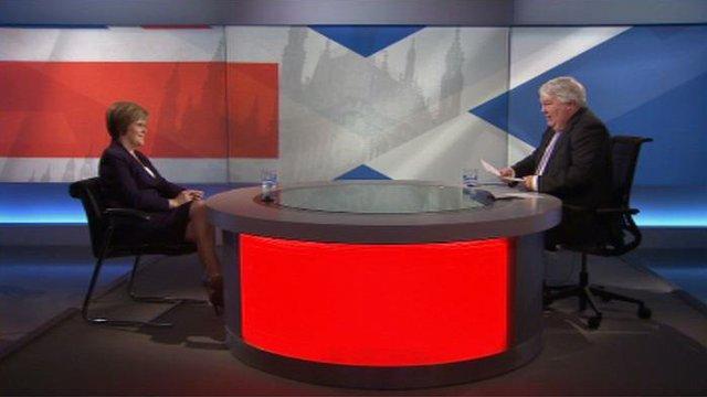 Nicola Sturgeon and Brian Taylor