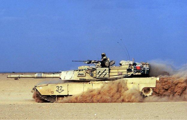 US army's M1 tank in Iraq, 2003