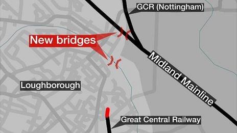 Map of where the bridge will go