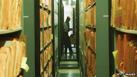 Files held an archive of Stasi activity in Berlin. The East German secret police spied on its own people.