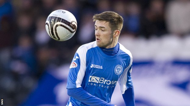 St Johnstone midfielder Gwion Edwards