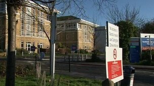 Exterior view Southend University Hospital