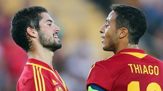 Isco (left) and Thiago Alcantara